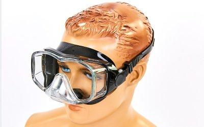 Набор для плавания маска с трубкой Zelart M307-SN124-SIL черный