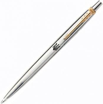 Ручка шариковая Parker Jotter 17 SS GT BP Трезубец Синяя Серебристый корпус (16 032_TR)