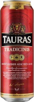 Упаковка пива Tauras Tradicinis светлое фильтрованное 6% 0.568 л x 24 шт (4770477227762G)