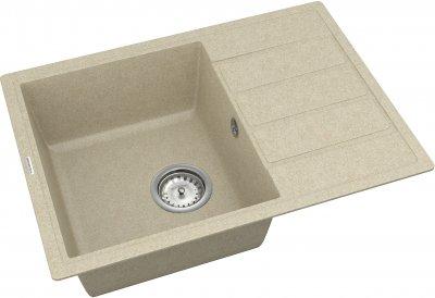 Кухонная мойка VANKOR Easy EMP 02.62 Beige + сифон одинарный VANKOR Стандарт
