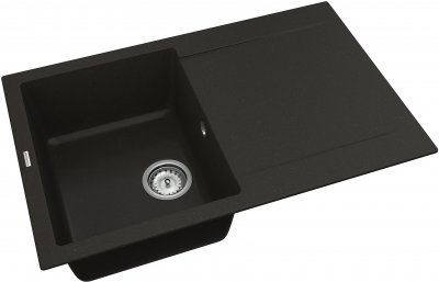 Кухонная мойка VANKOR Orman OMP 02.78 Black + сифон одинарный VANKOR Стандарт