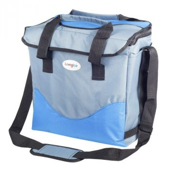 Термосумка Long Ice Drink серо-голубая 30 л 3830-1