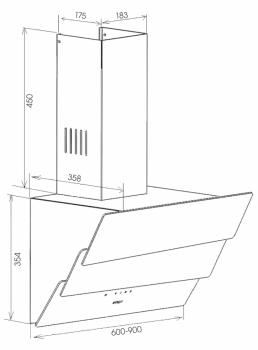 Вытяжка кухонная Zirtal FALCON 90 WH