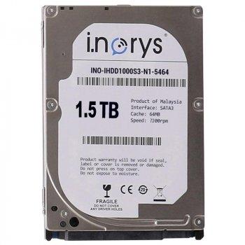 Жорсткий диск i.norys 1.5 TB 7200rpm 64MB (INO-IHDD1500S3-D1-7264) 3.5 SATA III