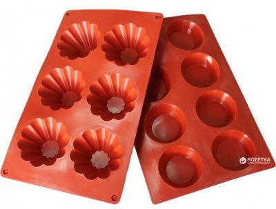 Форма для випікання Київгума силіконова фігурна на 6 шт. Червона (A55390000620001)