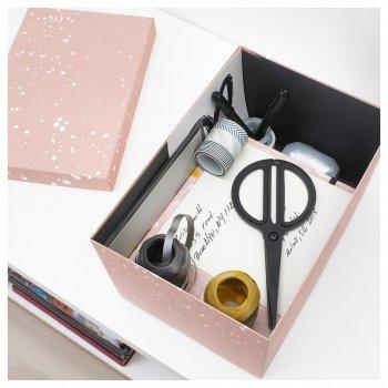 Коробка з кришкою IKEA TJENA 18x25x15 см рожева 004.038.17