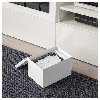 Коробка з кришкою IKEA TJENA 18x25x15 см біла 103.954.21