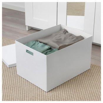 Коробка з кришкою IKEA TJENA 35x50x30 см біла 903.743.49