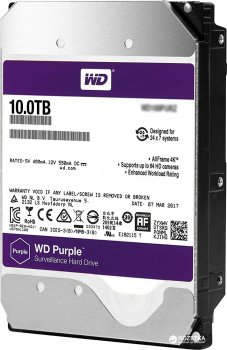 Жорсткий диск Western Digital Purple 10TB 256MB 7200rpm WD101PURZ 3.5 SATA III