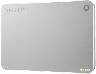 "Жорсткий диск Toshiba Canvio Premium Portable 2TB HDTW220ES3AA 2.5"" USB 3.0 External Silver Metallic"