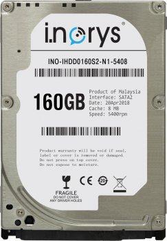 Жесткий диск i.norys 160GB INO-IHDD0160S2-N1-5408 5400rpm 8MB 2.5 SATA II