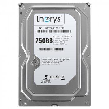 Жорсткий диск i.norys 750GB 7200rpm 32MB INO-IHDD0750S2-D1-7232 3.5 SATAII