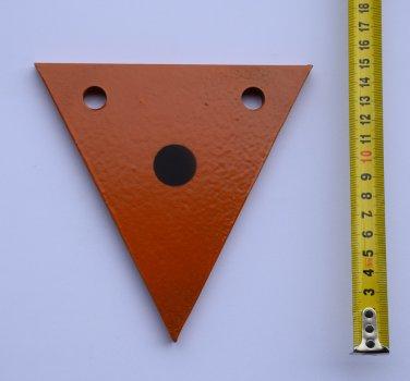 Гонг мішень 150х150 трикутник Сателіт (606)