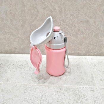 Детский герметичный дорожный писсуар непроливайка для девочки Kids Urinals Pink (TKU002P)