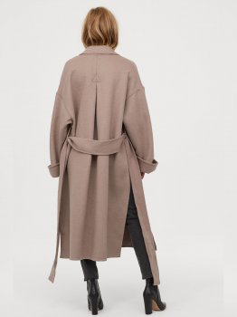 Пальто H&M 0784265-0 Бежеве