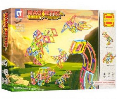 Конструктор Магнитный, Limo Toy 2004, Динозавры, 106 дет, В Коробке, 55-37-8 см