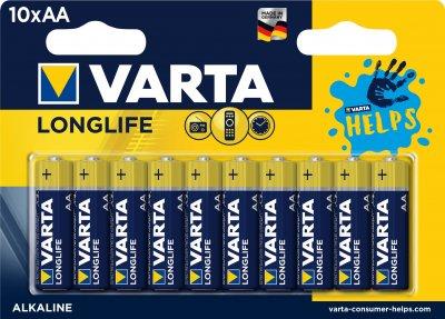Батарейка Varta Longlife AA BLI HELPS 10 шт (4106321461)
