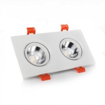 ElectroHouse LED світильник стельовий білий подвійний 5W кут повороту 45° 4100К