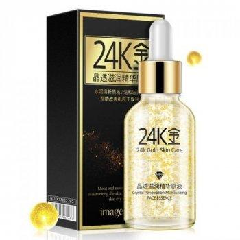 Сыворотка для лица с гиалуроновой кислотой и золотом Images 24k Gold Skin Care 30мл