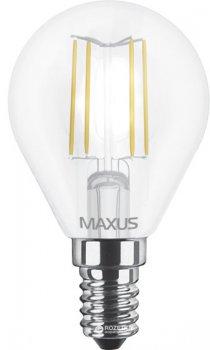 Світлодіодна лампа Maxus філамент G45 4W м'яке світло E14 (1-LED-547-01)