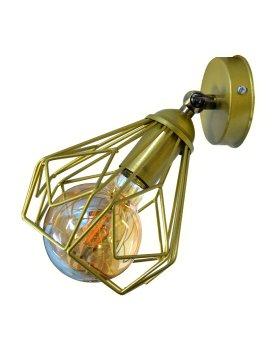 Світильник настінний бра 100lamp Loft Е-27 метал, золотий, похилий механізм (NL 538-1G)
