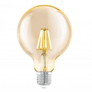 Лампа світлодіодна EGLO AMBER Филаментная LM-E27-LED G95 4W 2200K 1STK (11522)