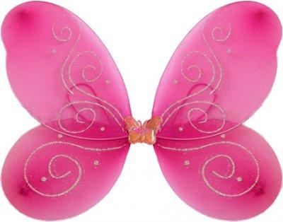 Крылья Бабочки средние Карнавал Малиновые 40х40 см (2000000031552K)