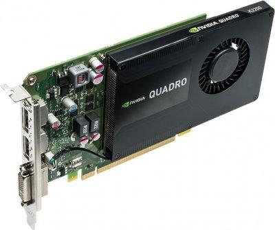 PNY PCI-Ex NVIDIA Quadro K2200 4GB GDDR5 (128bit) (1000/1250) (DVI-I, 2 x DisplayPort) (VCQK2200-PB)