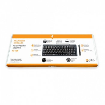 Дротова клавіатура Piko KB 108 Black (AS 478601)