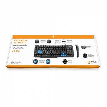 Дротова клавіатура Piko KB 106 Black (AS 478599)