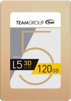 "Накопичувач SSD 2.5"" 120Gb SATA Team L5 Lite 3D Gold (T253TD120G3C101)"