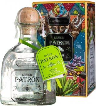 Текила Patron Silver 0.75 л 40% в подарочной упаковке (7217338960293)