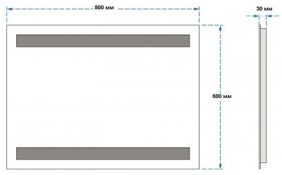 Зеркало UMT SLD 08 800х600 мм LED (SLD 08 800-600)