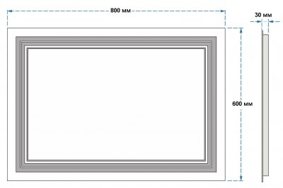 Зеркало UMT SLD 07 800х600 мм LED (SLD 07 800-600)
