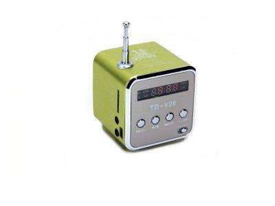 Портативная колонка Digital TD-V26 c Fm-радио/micro SD/TF/ USB Зеленый (1001-276-02)