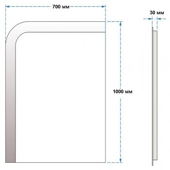 Зеркало UMT SLD 15 700х1000 мм LED (SLD 15 700-1000)