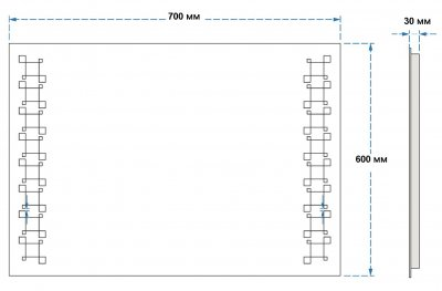 Зеркало UMT SLD 27 700х600 мм LED (SLD 27 700-600)