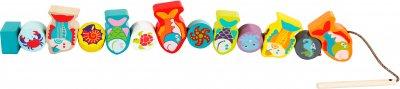 Дерев'яна іграшка Cubika Рибки на шнурівці (13647) (4823056513647)