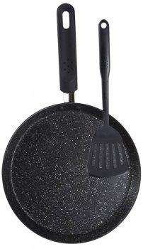 Сковорода для блинов с лопаткой Wellberg Bonjour 24 см (WB-9703)
