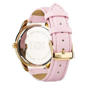 Годинники наручні Ziz Мінімалізм ремінець пудрово-рожевий золото і додатковий ремінець PPU-142875