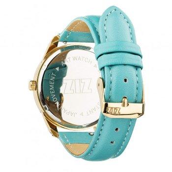 Годинники наручні Ziz Мінімалізм ремінець небесно-блакитний золото і додатковий ремінець PPU-142879