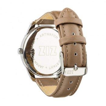 Годинники наручні Ziz Мінімалізм ремінець сіро-коричневий срібло і додатковий ремінець PPU-142854