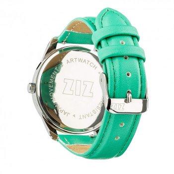 Годинники наручні Ziz Мінімалізм ремінець м'ятно-бірюзовий срібло і додатковий ремінець PPU-142861