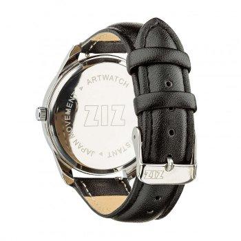 Годинники наручні Ziz Гей Кіт ремінець насичено-чорний срібло і додатковий ремінець PPU-142931