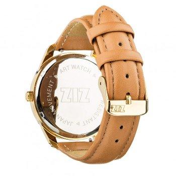 Годинники наручні Ziz Мінімалізм ремінець карамельно-коричневий золото і додатковий ремінець PPU-142868