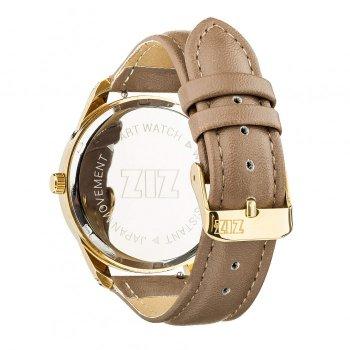 Годинники наручні Ziz Мінімалізм ремінець сіро-коричневий золото і додатковий ремінець PPU-142870