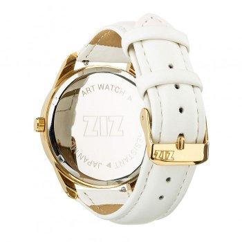 Годинники наручні Ziz Мінімалізм ремінець кокосово-білий золото і додатковий ремінець PPU-142867