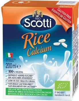 Рисовое молоко Riso Scotti органическое с кальцием 200 мл (8001860235450)