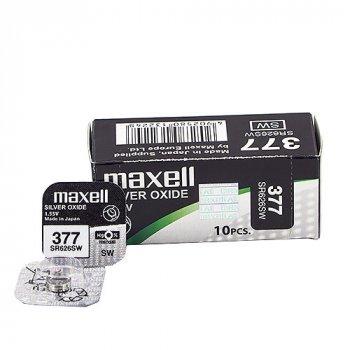 Часовая серебряно-цинковая батарейка Maxell SR-712SW-377