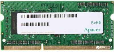 Оперативна пам'ять Apacer SODIMM DDR3L-1600 4096MB PC3-12800 (DV.04G2K.KAM)